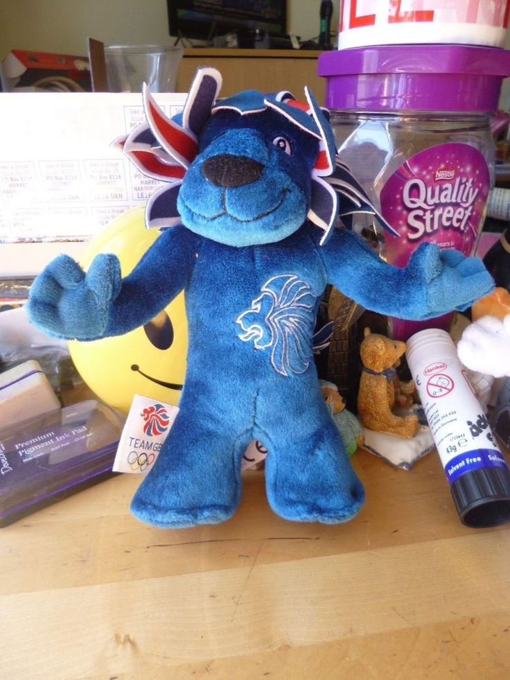 pride the lion - team gb - 2012 olympic mascot soft toy - blue  | eBay