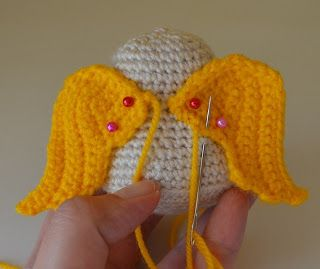 ****Using wing pattern for applique**** Kim Lapsley Crochets: The Cranky Angel