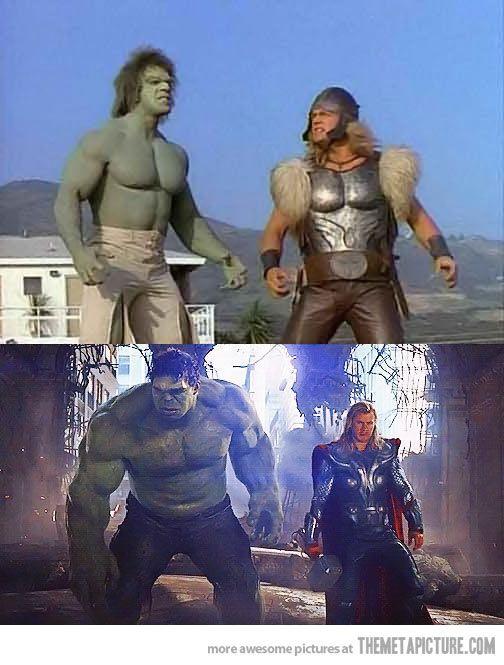 Hulk e Thor, 34 anos depois.