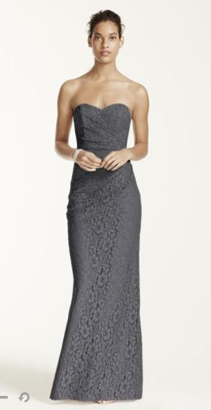 In wisteria (purple) or gray http://www.davidsbridal.com/Product_long-strapless-lace-dress-with-sweetheart-neckline-w10329_wedding-party-all-bridesmaid-dresses