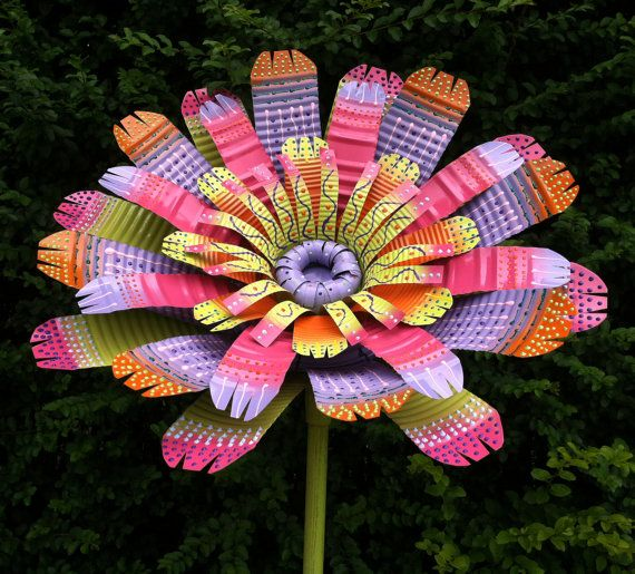 Top 25 ideas about tin can flowers on pinterest tin can for Large tin can crafts