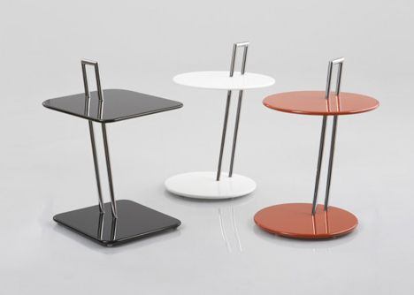 Eileen Gray, occasional tables, 1927