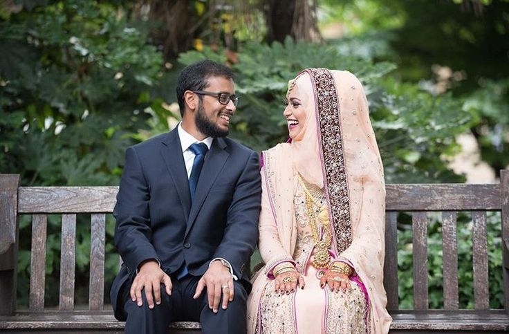 Hijabi bride on her wedding day