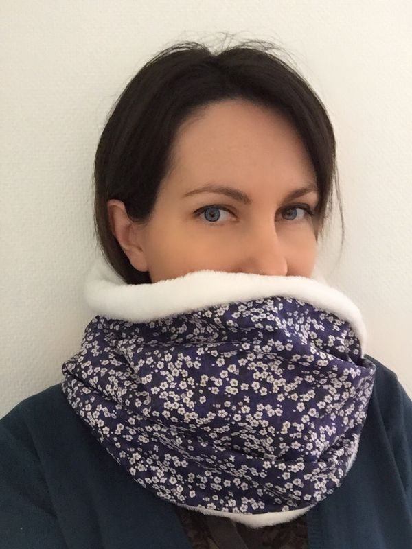 Tuto grand snood - double snood 135  cm (minimum) X 27 cm
