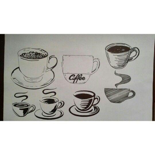 #design #coffeeshop #coffee #drawing