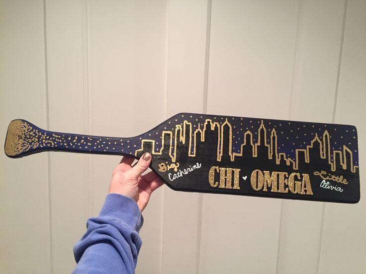Sorority paddle board Chi Omega