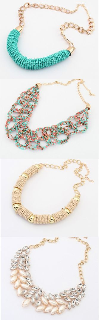 https://www.pinterest.com/myfashionintere/ Beaded Necklace 2014 style. #accessories #necklace