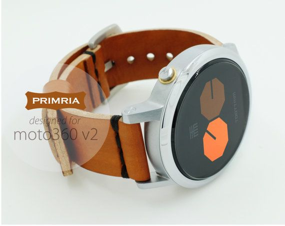 This PRIMRIA - P360v2, leather watchband is special designed for moto 360 watch giving a new premium feel to your watch. Each band is carefully hand-cut,