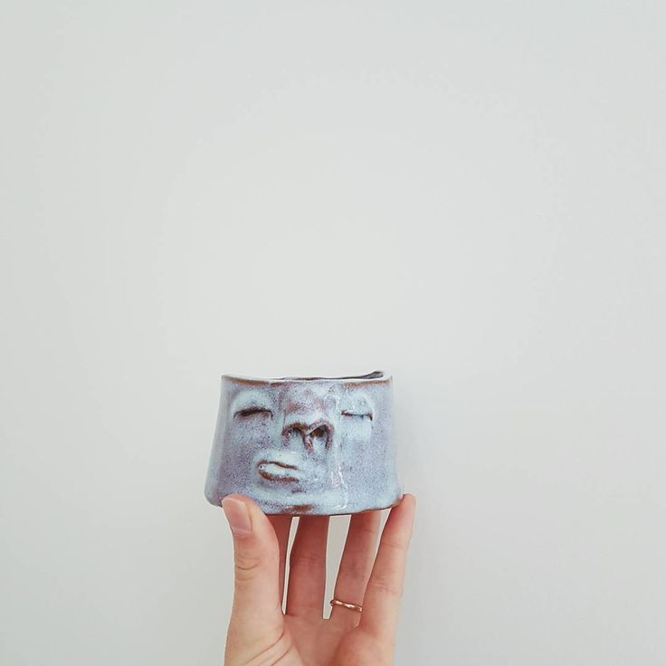 Happy Friday! Shop update for the end of the month is in the works. This little guy will be there.  #handmade #ceramics #ceramic #planters #planter #face #faces #pot #head #madeinwinnipeg #madeincanada #madeinmanitoba #make #shoplocal #visualsoflife  #thatsdarling #blue #purple #clay #decor #homedecor #home