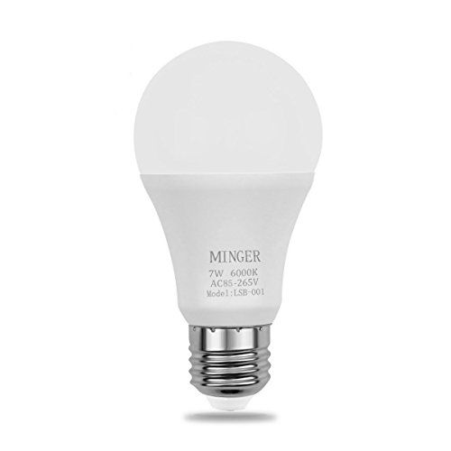 MINGER Sensor Lights Bulb, 7W Smart Automatic Dusk to Dawn LED Bulbs with Auto on/off, Indoor / Outdoor Lighting Lamp for Porch, Hallway, Patio, Garage (E26/E27, 600lumen, Cold White)  US $10.99 & FREE Shipping  #bigboxpower