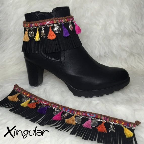 Boot covers with bobble for boots by Xingular on Etsy