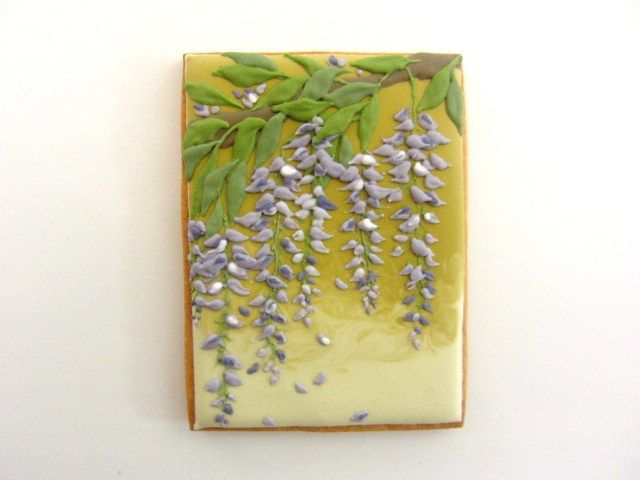 アイシング - decorated cookies, wisteria