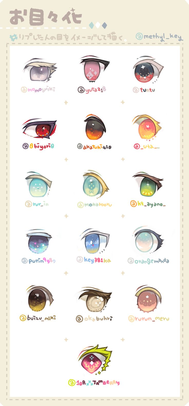 Draw Eyes Based On A Person's Image! ϼ�お目々化 Omemeka
