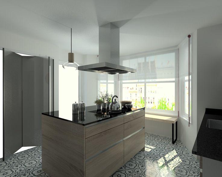 M s de 1000 ideas sobre encimeras de granito negro en pinterest casa inteligente sistema de - Encimera granito negro ...