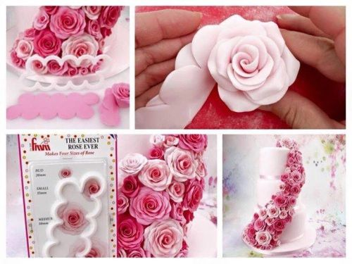 This is such a great idea - The Easy Rose Cutter by FMM sugarcraft. Make roses…