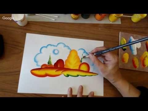 Видео мастер-класс: осень в декоративном пейзаже - Ярмарка Мастеров - ручная работа, handmade