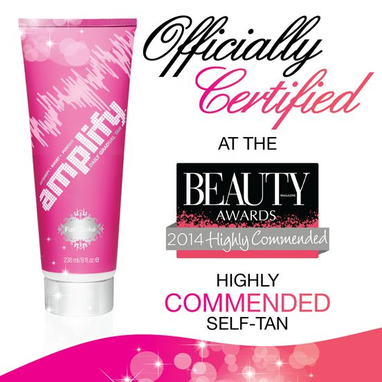 Amplify, our gradual tanner, was hugely impressive and won Highly Commended at The Beauty Awards 2014 - we were pretty impressed!