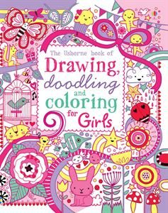usborne books more drawing doodling and coloring book girls - Color Books For Girls