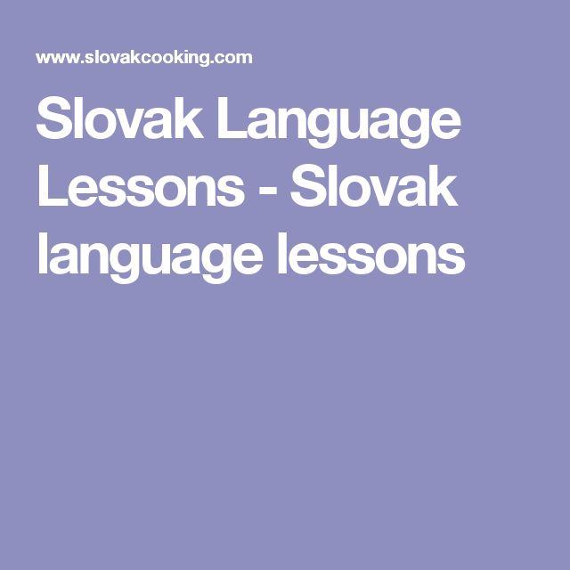 Slovak Language Lessons - Slovak language lessons