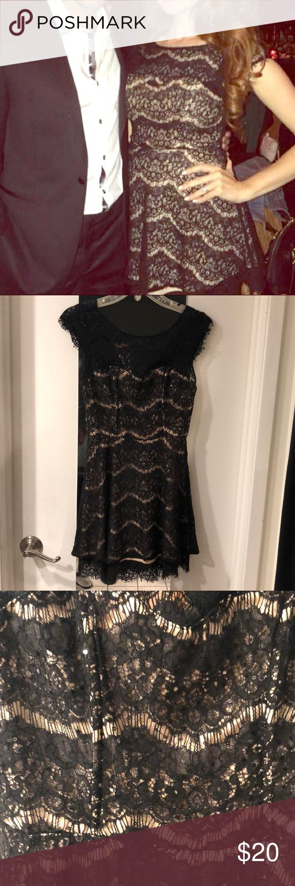 ❤️Forever 21 Black & Nude Sequin Dress❤️ Gorgeous sexy dress! Forever 21 Dresses