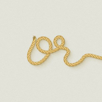 Use a Pattern Brush to Create a Rope Text Effect in Illustrator