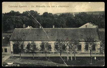 1914. Eger, Dr. Miskovits-féle ház a vásártéren - mai Dobó István tér | Képcsarnok | Hungaricana