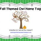 This free set includes 6 different fall themed owl name tags. ...