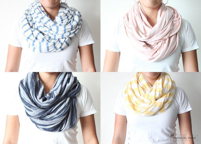 DIY circle scarf-- love love loooveee infinity scarves!