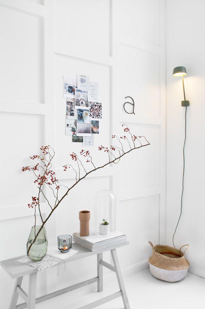 Autumn styling moodboard - muuto wandlamp door Tanja van Hoogdalem