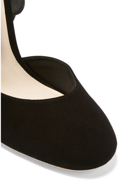 Sophia Webster - Evangeline Suede And Patent-leather Pumps - Black - IT