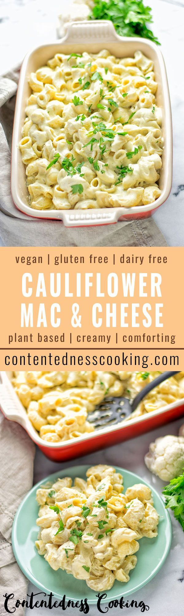 Out of this world: Cauliflower Mac & Cheese. Entirely vegan, gluten free and so delicious and comforting. Everyone will love this timeless winner.