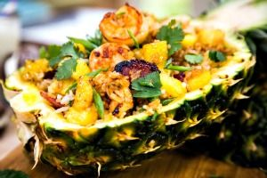 Chef Jet Tila and His Mom Mary's Pineapple Fried Rice - Cristina Ferrare