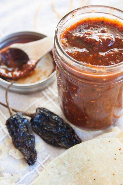 Chipotle Chile Pequin Salsa - Smoky chipotle peppers combined with spicy flavorful pequin chilies make for a perfectly blended salsa.