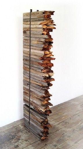 Rustic scrap wood re-imagined as art || Geib, Jon - First Vardøger Cage (2008) 04 by J0N6, via Flickr