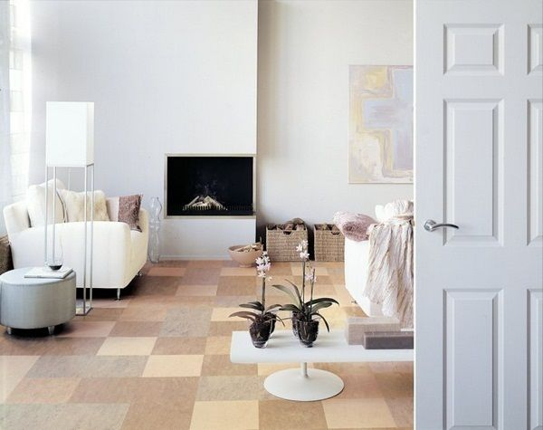 PIN 6: Neutral Colored Linoleum Floor Tiles In This Living Room Add To The  General