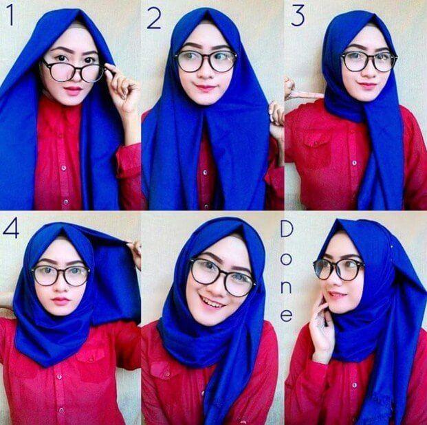 Tutorial Hijab Panjang Wajah Bulat Tutorial Hijab Mudah Casual Hijab Outfit Hijab