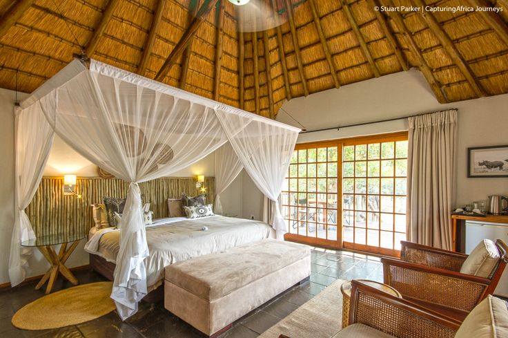 The master bedroom in the Homestead - Rhino River Lodge - Luxury Accommodation in Africa