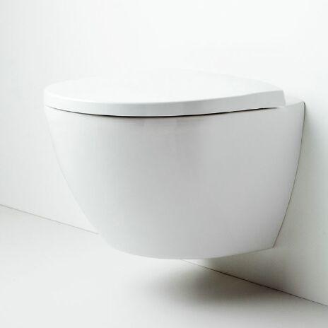 Ikke førstevalg. Ikke på tilbud. Penere skål. 3753:- for bare skålen, cisterne +sete i tillegg.   Porsgrund Bad Seven D Image veggskål fra Varme & Bad