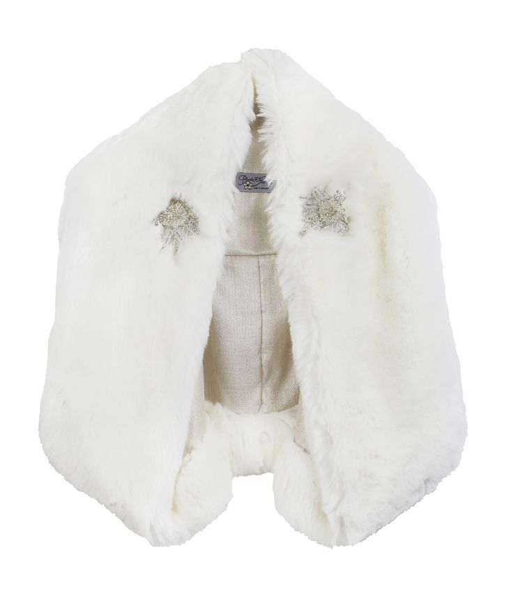 The Rose Royal bridal faux fur jacket with pearl and crystal beading. A glamorous topper to your bridal look.
