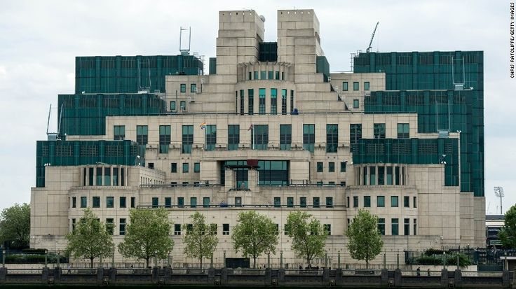 The headquarters of the UK Secret Intelligence Service, or MI6, sits on the south bank of the River Thames.