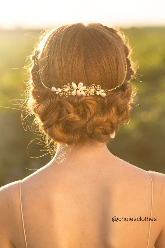 braid and knot with dressy accessory