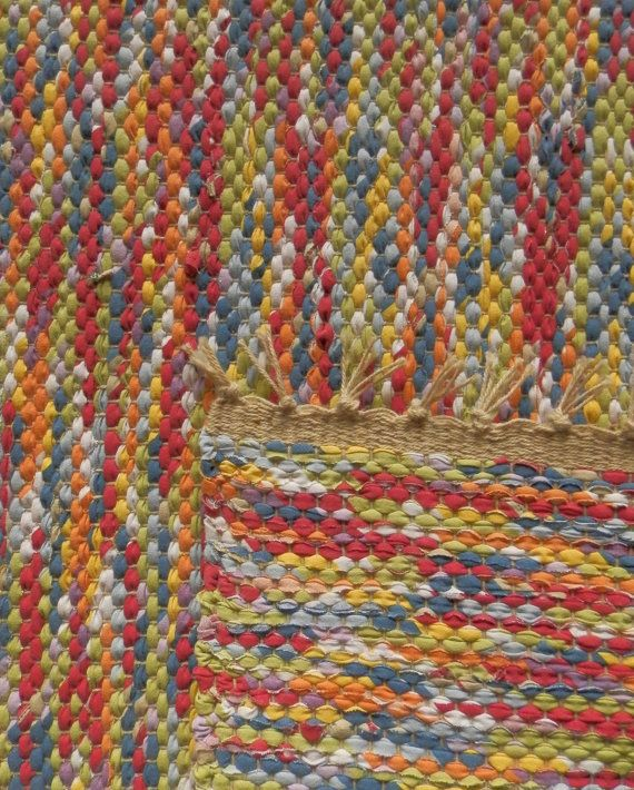 Hand Woven Rag Rug Colored Marbles 19 Quot X 35 Quot Custom
