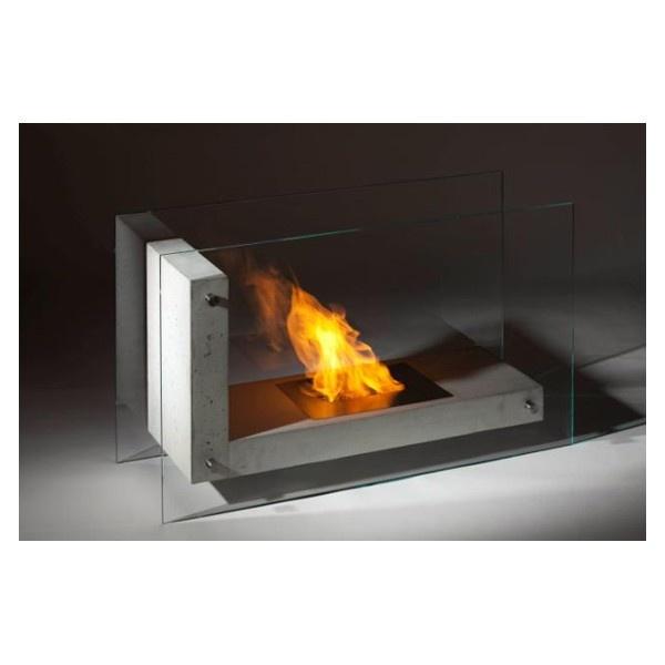 Planika L Shape white bio fireplace @ inamus.com - The biggest fireplace catalog in the world