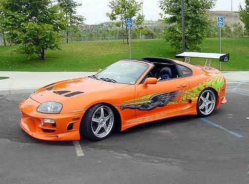 Toyota Supra straight out of the Fast & Furious lot. R.I.P Paul