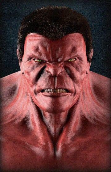 imagen de hulk enojado rojo