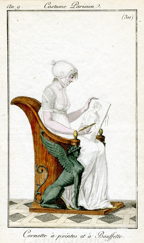 Sketching a classical figure. Costume parisien, an 9