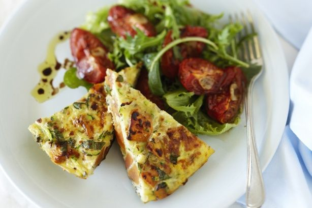 This versatile fritata dish is served best with salad.