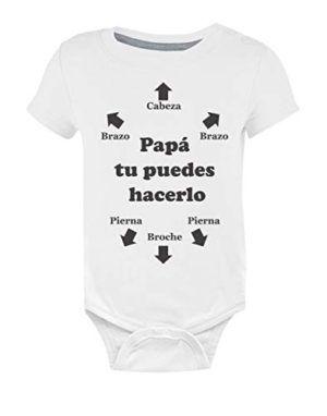 8c8508122 Papá, tu puedes hacerlo   baby shower ideas, photographs and children    Camisetas bebe, Papá primerizo, Pollos bebé