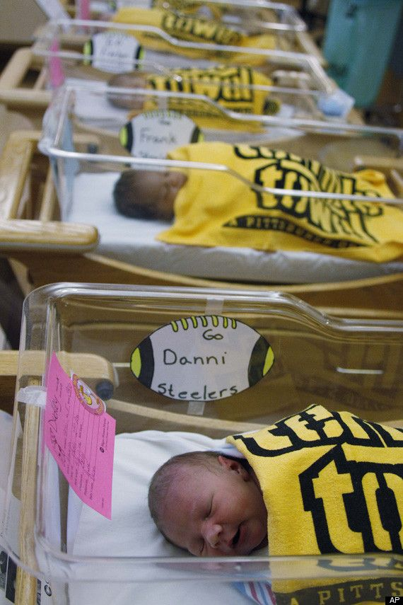 photos babies wrapped in steelers terrible towels