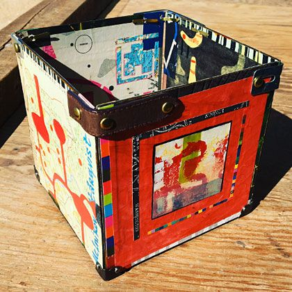 Make a storage box out of recycled mat board - http://www.chasenfratz.com/wp/make-storage-box-recycled-mat-board/
